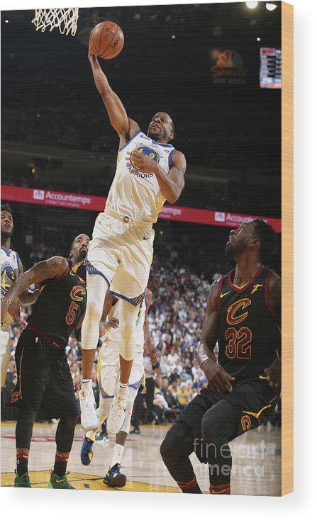 Nba Pro Basketball Wood Print featuring the photograph Andre Iguodala by David Sherman