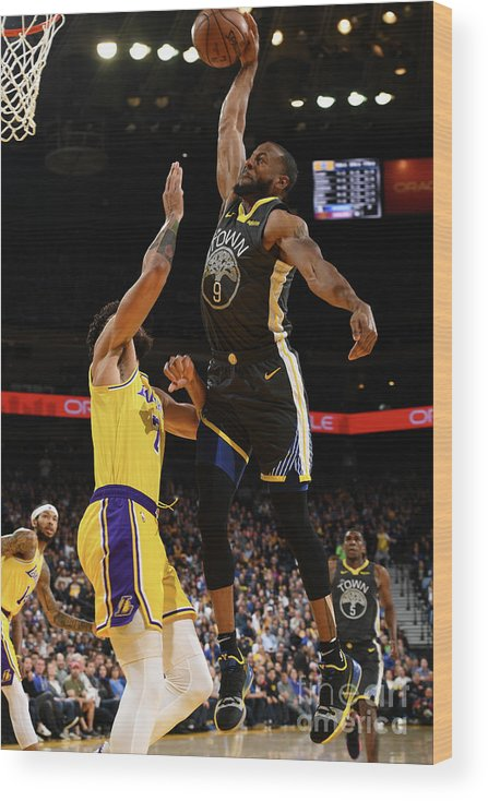 Nba Pro Basketball Wood Print featuring the photograph Andre Iguodala by Garrett Ellwood
