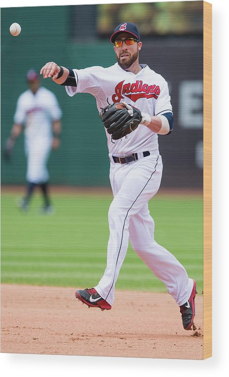 Andrew Romine Wood Print featuring the photograph Andrew Romine and Jason Kipnis by Jason Miller