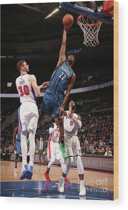 Nba Pro Basketball Wood Print featuring the photograph Andrew Wiggins by Brian Sevald