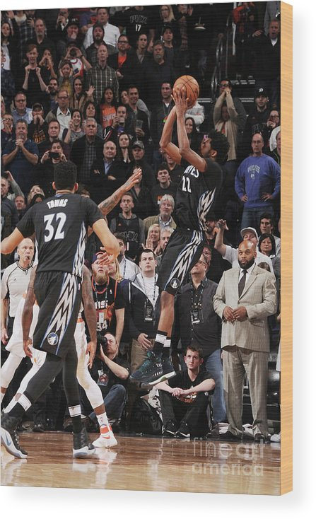 Nba Pro Basketball Wood Print featuring the photograph Andrew Wiggins by Michael Gonzales
