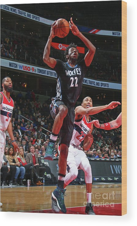 Nba Pro Basketball Wood Print featuring the photograph Andrew Wiggins by Ned Dishman