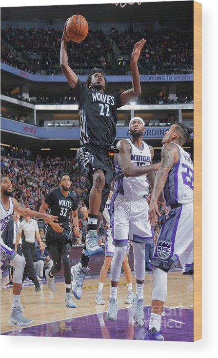 Nba Pro Basketball Wood Print featuring the photograph Andrew Wiggins by Rocky Widner