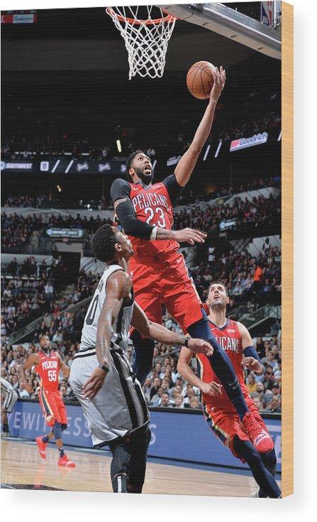 Nba Pro Basketball Wood Print featuring the photograph Anthony Davis by Mark Sobhani