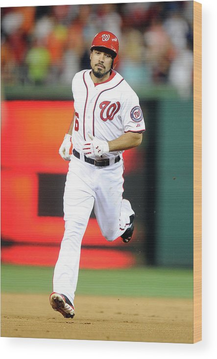 American League Baseball Wood Print featuring the photograph Anthony Rendon by Greg Fiume