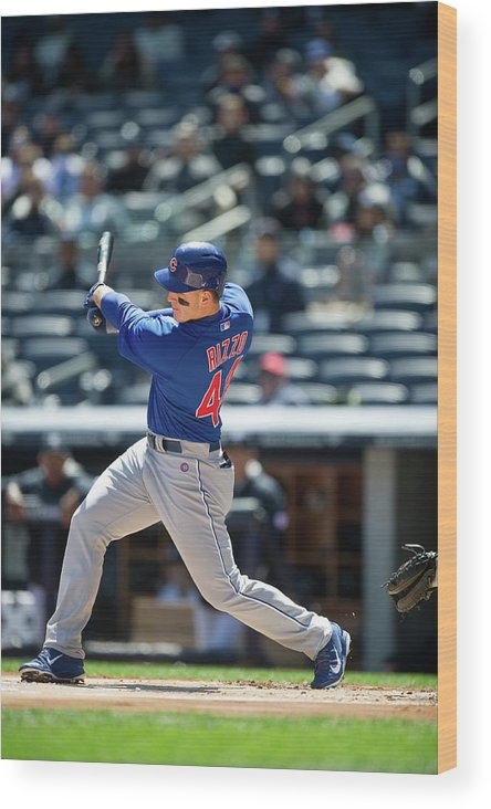 American League Baseball Wood Print featuring the photograph Anthony Rizzo by Rob Tringali