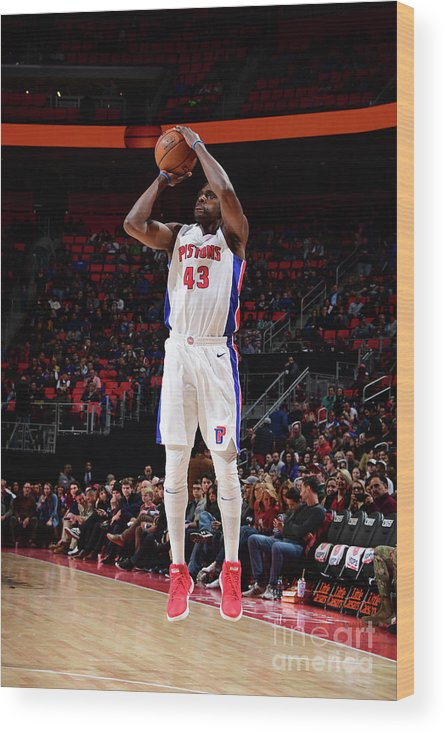 Nba Pro Basketball Wood Print featuring the photograph Anthony Tolliver by Chris Schwegler