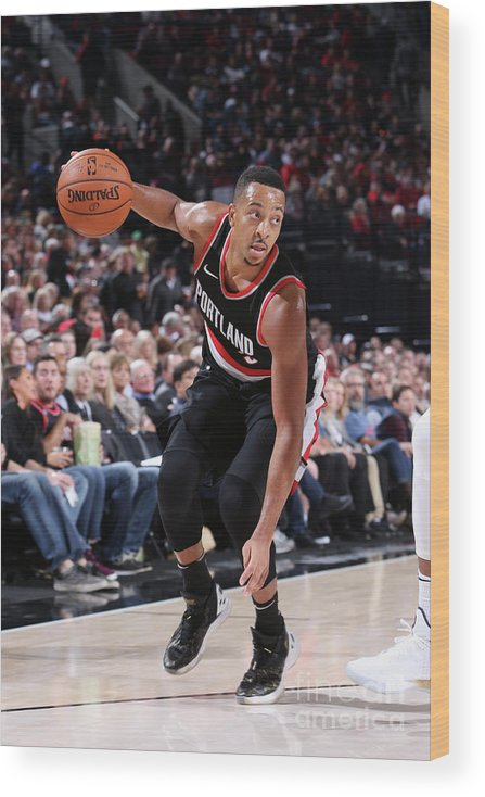 Nba Pro Basketball Wood Print featuring the photograph Archie Goodwin by Sam Forencich