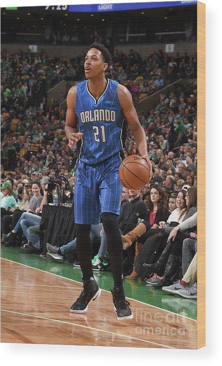 Nba Pro Basketball Wood Print featuring the photograph Arinze Onuaku by Steve Babineau