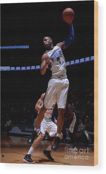 Nba Pro Basketball Wood Print featuring the photograph Arron Afflalo by Bart Young