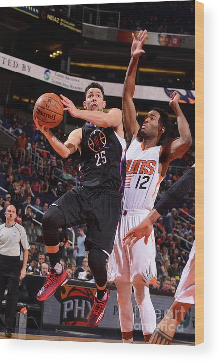 Nba Pro Basketball Wood Print featuring the photograph Austin Rivers by Barry Gossage