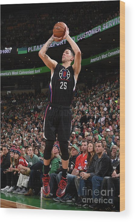 Nba Pro Basketball Wood Print featuring the photograph Austin Rivers by Brian Babineau