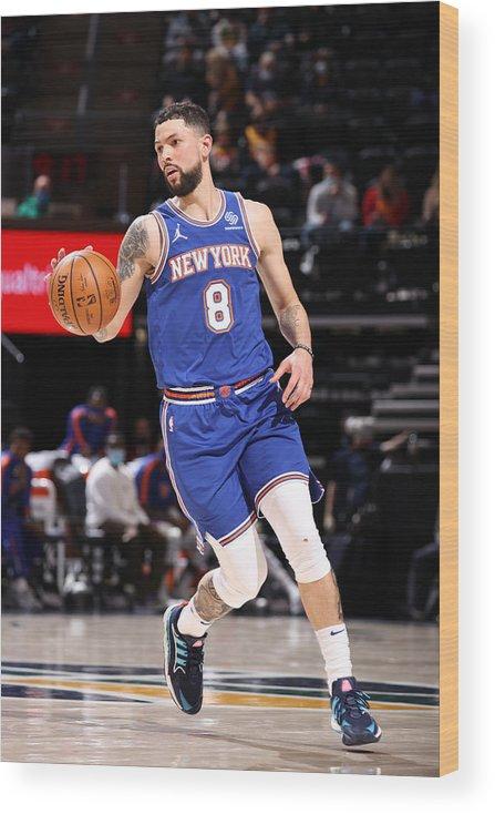 Nba Pro Basketball Wood Print featuring the photograph Austin Rivers by Melissa Majchrzak