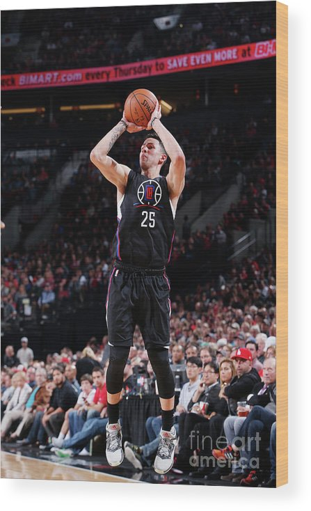 Nba Pro Basketball Wood Print featuring the photograph Austin Rivers by Sam Forencich