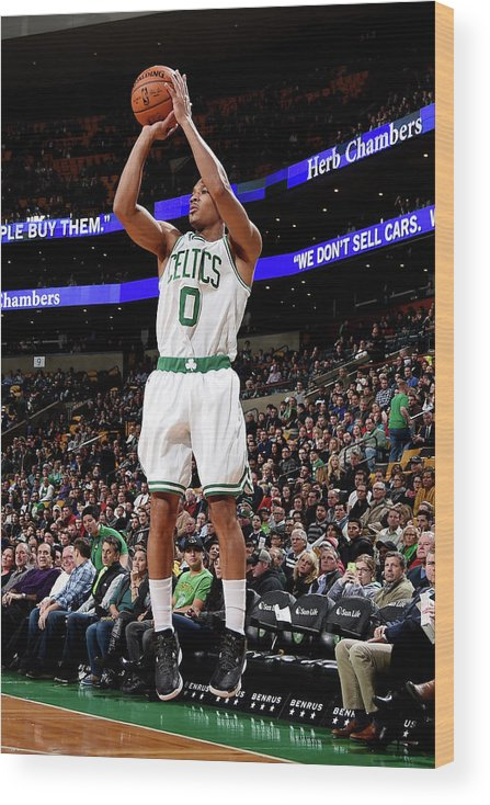 Nba Pro Basketball Wood Print featuring the photograph Avery Bradley by Brian Babineau