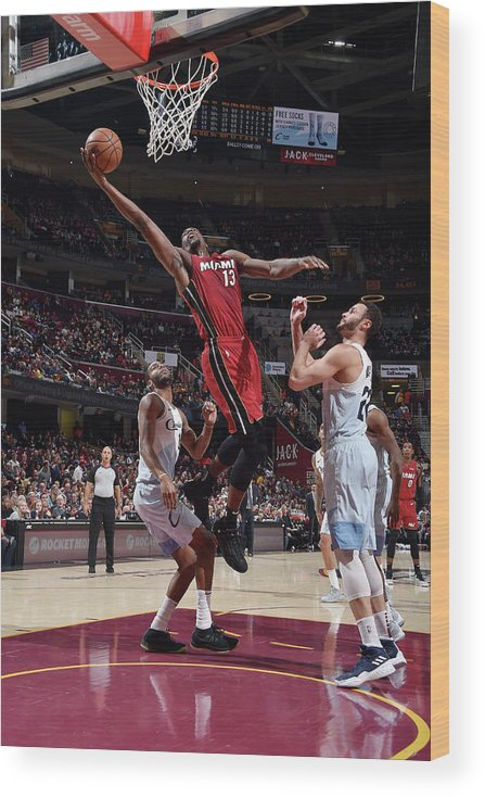 Nba Pro Basketball Wood Print featuring the photograph Bam Adebayo by David Liam Kyle