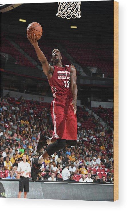 Nba Pro Basketball Wood Print featuring the photograph Bam Adebayo by Garrett Ellwood
