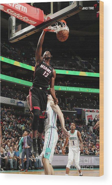 Nba Pro Basketball Wood Print featuring the photograph Bam Adebayo by Kent Smith