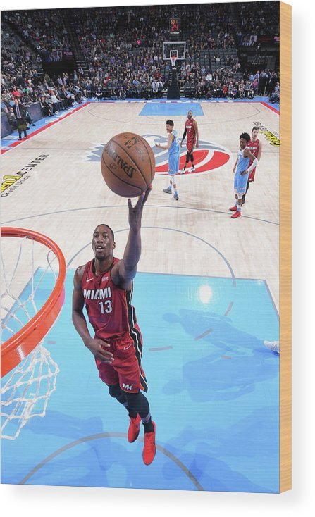 Nba Pro Basketball Wood Print featuring the photograph Bam Adebayo by Rocky Widner