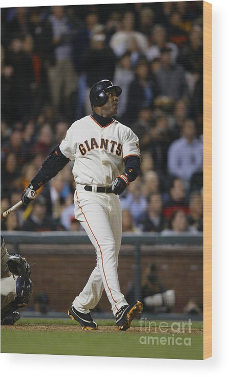 San Francisco Wood Print featuring the photograph Barry Bonds by Don Smith
