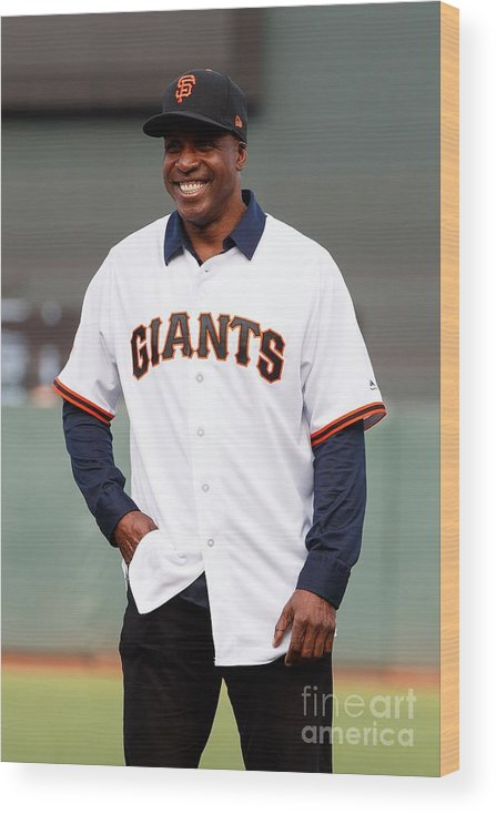 San Francisco Wood Print featuring the photograph Barry Bonds by Jason O. Watson