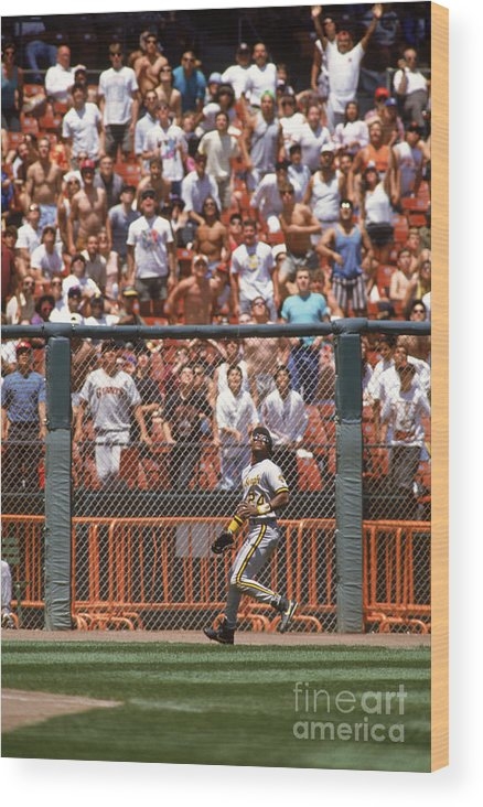 Candlestick Park Wood Print featuring the photograph Barry Bonds by Otto Greule Jr