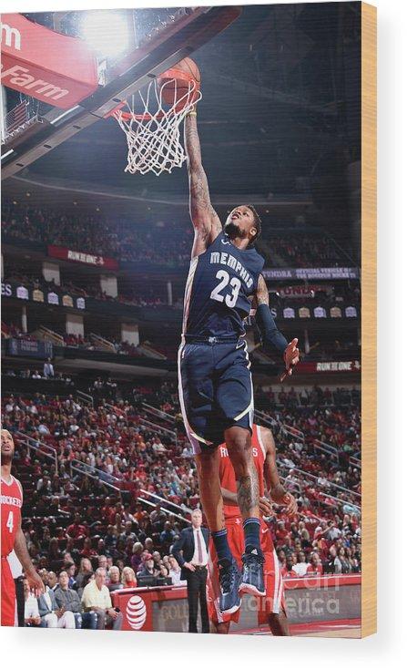 Nba Pro Basketball Wood Print featuring the photograph Ben Mclemore by Bill Baptist