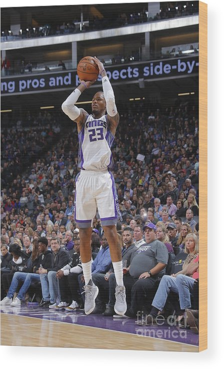 Nba Pro Basketball Wood Print featuring the photograph Ben Mclemore by Rocky Widner
