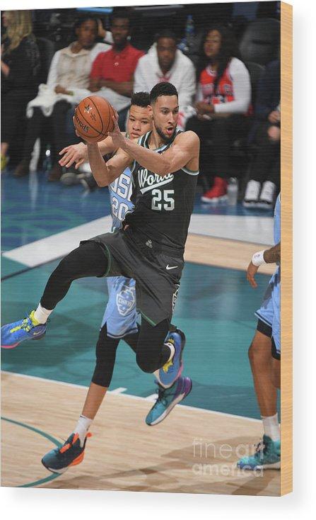 Nba Pro Basketball Wood Print featuring the photograph Ben Simmons by Garrett Ellwood