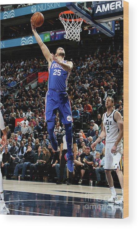 Nba Pro Basketball Wood Print featuring the photograph Ben Simmons by Melissa Majchrzak