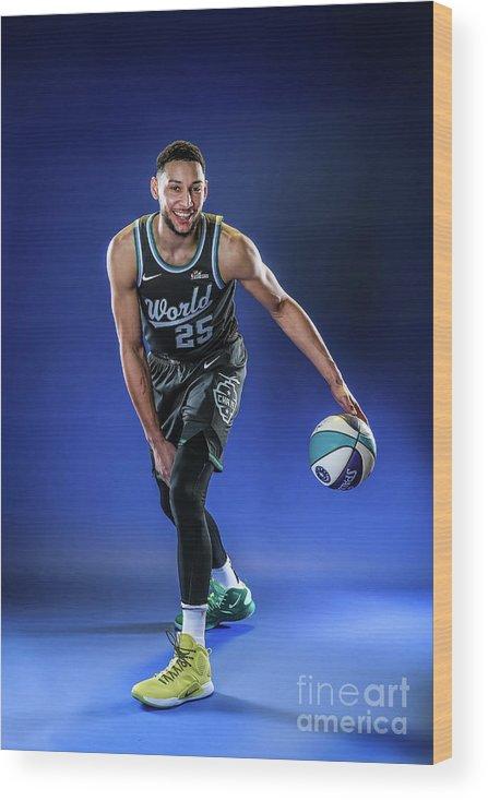 Nba Pro Basketball Wood Print featuring the photograph Ben Simmons by Michael J. Lebrecht Ii