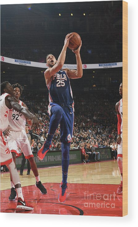 Nba Pro Basketball Wood Print featuring the photograph Ben Simmons by Ron Turenne