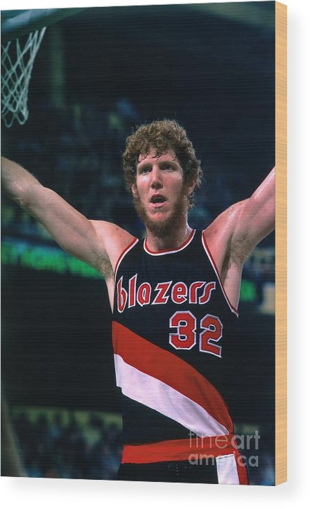 Nba Pro Basketball Wood Print featuring the photograph Bill Walton by Dick Raphael