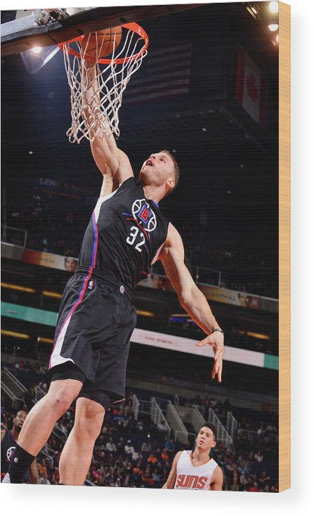 Nba Pro Basketball Wood Print featuring the photograph Blake Griffin by Barry Gossage