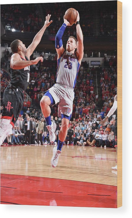 Sports Ball Wood Print featuring the photograph Blake Griffin by Bill Baptist