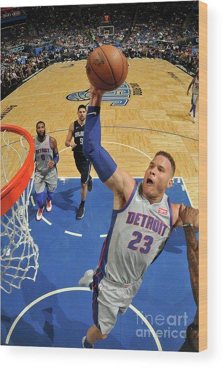 Nba Pro Basketball Wood Print featuring the photograph Blake Griffin by Fernando Medina