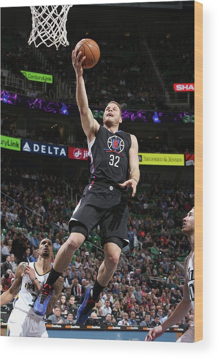Nba Pro Basketball Wood Print featuring the photograph Blake Griffin by Melissa Majchrzak