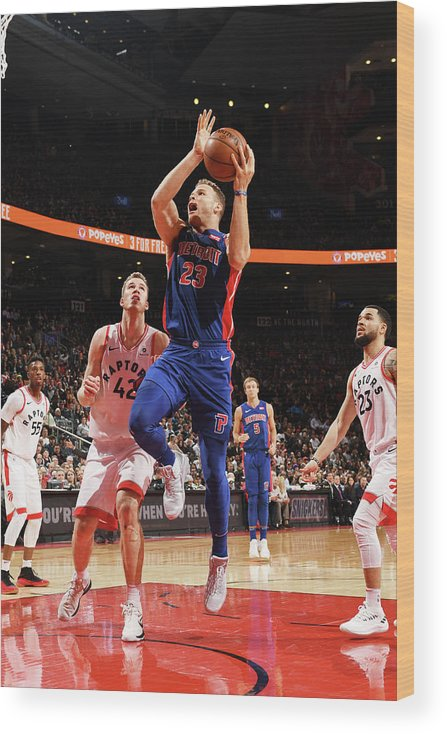 Nba Pro Basketball Wood Print featuring the photograph Blake Griffin by Ron Turenne