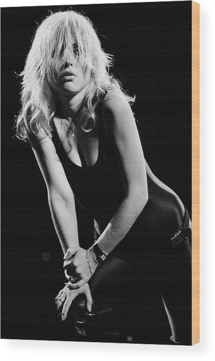 Rock Music Wood Print featuring the photograph Blondie In Concert At The Whiskey by George Rose