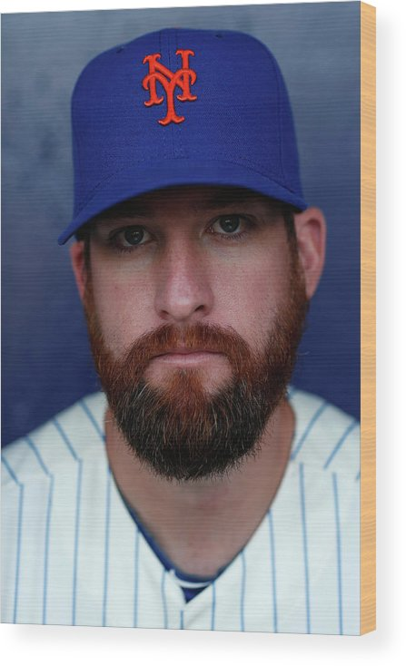 Media Day Wood Print featuring the photograph Bobby Parnell by Chris Trotman