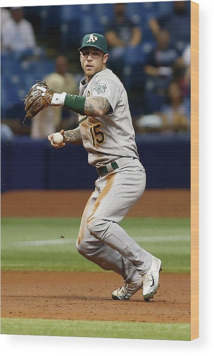 People Wood Print featuring the photograph Bobby Wilson and Brett Lawrie by Brian Blanco