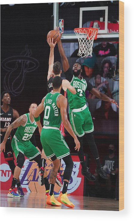 Playoffs Wood Print featuring the photograph Boston Celtics v Miami Heat - Game Three by Jesse D. Garrabrant