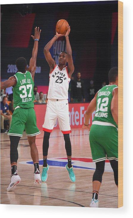 Nba Pro Basketball Wood Print featuring the photograph Boston Celtics v Toronto Raptors by Bill Baptist