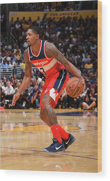 Nba Pro Basketball Wood Print featuring the photograph Bradley Beal by Andrew D. Bernstein
