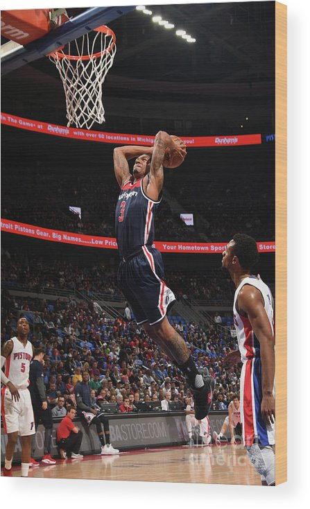 Nba Pro Basketball Wood Print featuring the photograph Bradley Beal by Chris Schwegler