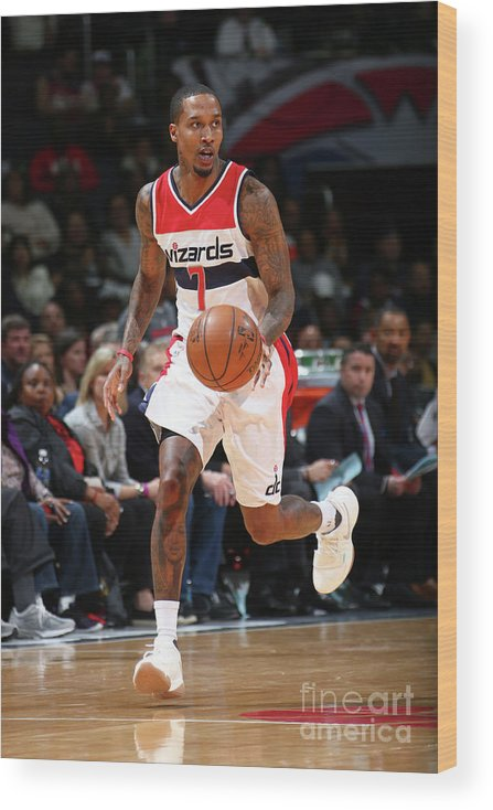 Nba Pro Basketball Wood Print featuring the photograph Brandon Jennings by Ned Dishman
