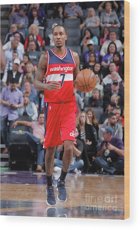 Nba Pro Basketball Wood Print featuring the photograph Brandon Jennings by Rocky Widner