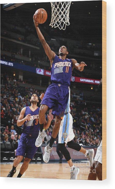 Nba Pro Basketball Wood Print featuring the photograph Brandon Knight by Garrett Ellwood