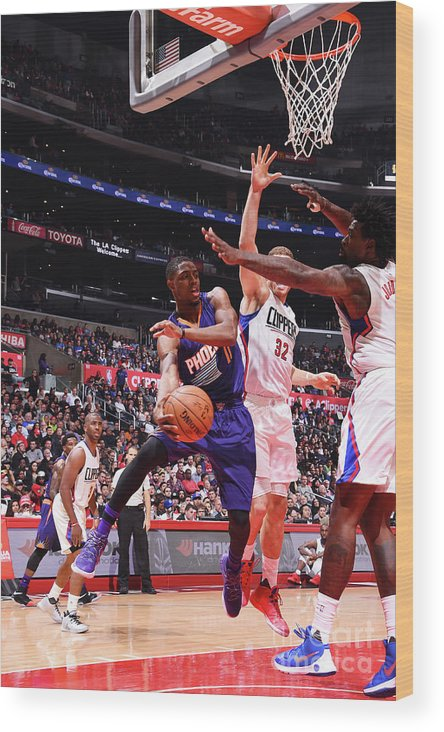 Nba Pro Basketball Wood Print featuring the photograph Brandon Knight by Juan Ocampo