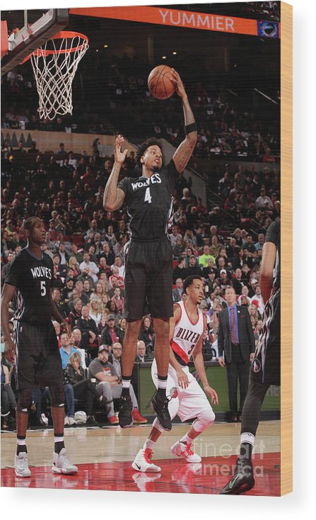 Nba Pro Basketball Wood Print featuring the photograph Brandon Rush by Cameron Browne